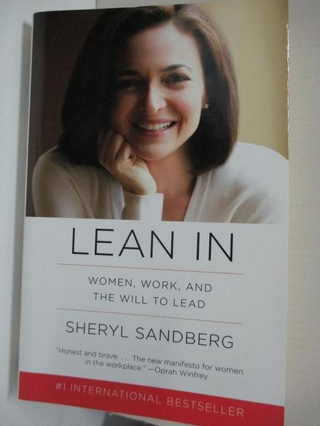 【書寶二手書T1/傳記_H5V】Lean In_Sheryl Sandberg