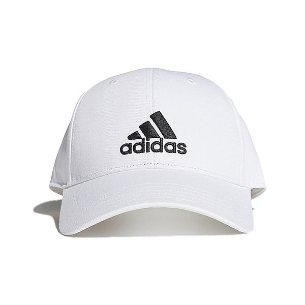 ADIDAS BBALL CAP COT 白 男女 刺繡 三線 可調節 運動 休閒 棒球帽 FK0890