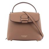 【BURBERRY】House格紋粒面皮革拼 Handle bag(小款)(深沙色) 40611721