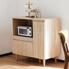 櫥櫃 廚房櫃 收納【收納屋】日式多功能三門廚房櫃&DIY組合傢俱