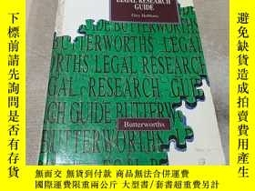 二手書博民逛書店BUTTERWORTHS罕見LEGAL RESEARCH GUI