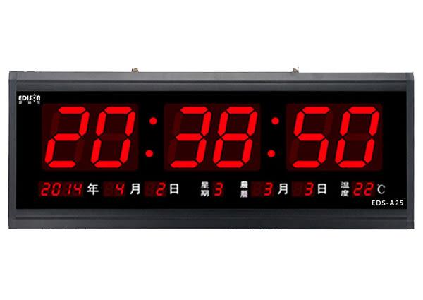 插電式LED電子萬年曆 (國曆/星期/時分秒/農曆/溫度)
