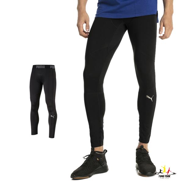 Puma ACE Tech 男 黑 緊身褲 長褲 運動褲 Leggings 健身 瑜珈 慢跑 棉質 長褲 51665701