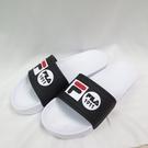 FILA 運動拖鞋 防水拖鞋 男女款 情侶拖鞋 4S351V110 黑白 24-29cm 整數碼【iSport愛運動】