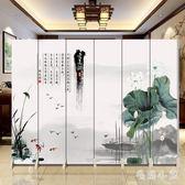 實木6扇屏風隔斷簡約現代小戶型客廳臥室省空間簡易折疊移動雙面 DJ1873『毛菇小象』