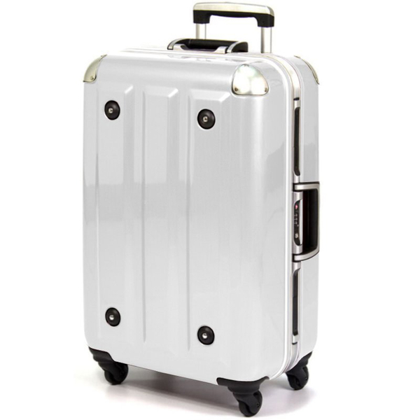 MOM行李箱 26吋『白色』MF300826 德國拜耳PC 超輕量鋁框行李 出國旅遊 拉桿箱 耐撞 輕量 靜音輪