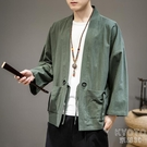中國風男裝長袖漢服開衫外套春季2020新款潮流青年復古風和服 【快速出貨】