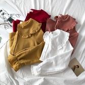 襯衫外套   日系甜美娃娃領襯衫女春秋季新款長袖開衫設計感內搭洋氣上衣    韓流時裳 夏季上新
