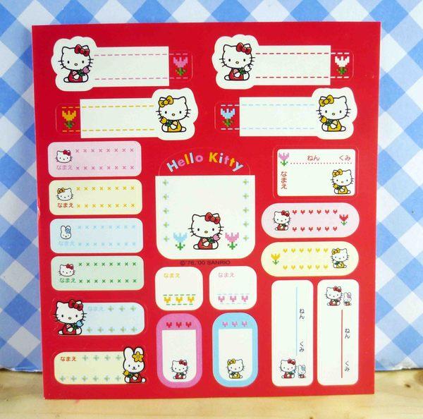【震撼精品百貨】Hello Kitty 凱蒂貓~KITTY姓名貼紙組-紅