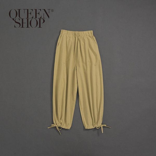 Queen Shop【04101369】女裝 褲腳綁帶縮口造型長褲 S/M*現+預*