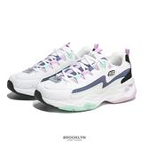SKECHERS 休閒鞋 DILTES 4.0 白紫 增高 老爹鞋 女 (布魯克林) 149493WBKB