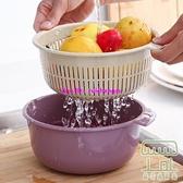 【3個】雙層瀝水籃盤洗菜籃子家用廚房水槽圓形瀝水架掛式【樹可雜貨鋪】
