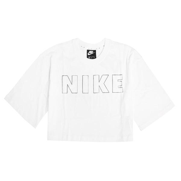 Nike 短袖T恤 Air Cropped T-Shirt 白 黑 女款 短版 運動休閒 【ACS】 CJ3060-100