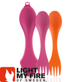 【Light My Fire 瑞典 魔術湯匙盒 湯匙2入 橘/紫紅】LF4144-93/魔術湯匙/環保湯匙/戶外餐具★滿額送