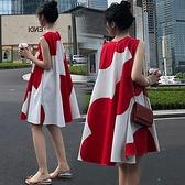 孕婦洋裝 孕婦裝夏裝連身裙子時尚套裝上衣夏天夏季春秋款新款法式-芭蕾朵朵
