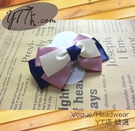 【YT店髮飾】紫夢優雅緞帶蝴蝶結髮夾/髮飾/頭飾/鯊魚夾(G008)