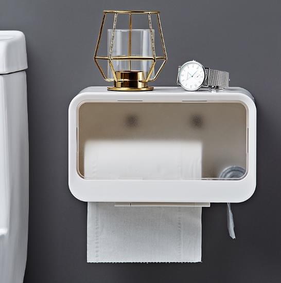 衛生間面紙盒 廁所洗手間免打孔創意家用置物架浴室衛生紙抽紙卷紙 快速出貨