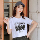 【GZ45】094#實拍(純棉)新款韓版夏裝超火cec學生寬鬆ins潮印花短袖