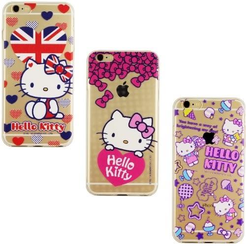 【Hello Kitty】iPhone 6 /6s 彩繪透明保護軟套