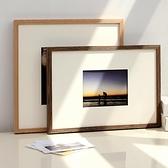 相框 實木相框掛牆定制做相冊外框架A4證書框擺台木質24寸8開k裝裱畫框【幸福小屋】