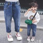 女童牛仔褲春裝新款兒童休閒褲洋氣女寶寶寬鬆垮褲4老爹褲3歲 錢夫人小鋪