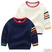 彩虹粗針織滾邊配色長袖上衣 毛衣 線衫 橘魔法 Baby magic 現貨  童褲 童裝 男童 針織毛衣