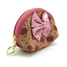 可愛粉紅蝴蝶結零錢包...