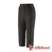 【wildland 荒野】女 高彈性抗UV防潑修身七分褲『煙燻色』0A91375 戶外 休閒 運動 吸濕 排汗 快乾