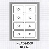 (5包)OGI 名片型光碟標籤,一包50張,可直接A4輸出No.CD24008 標籤貼紙