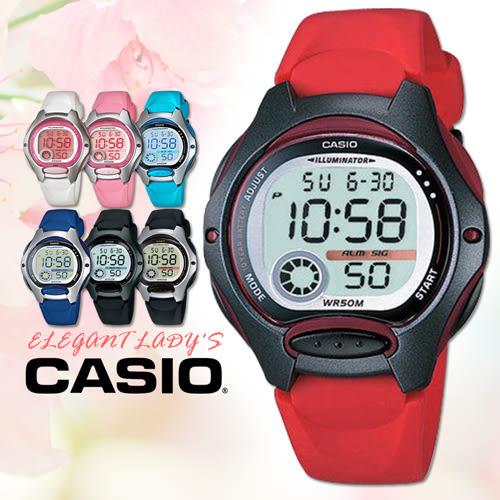 CASIO手錶專賣店 卡西歐 LW-200-4A 女錶 兒童錶 10年電池 球面玻璃 塑膠按鍵 膠質錶帶 數字電子錶
