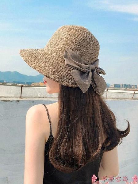 漁夫帽草帽女大帽檐夏涼帽漁夫帽時尚海邊沙灘大沿太陽帽防曬帽子遮陽帽 芊墨左岸