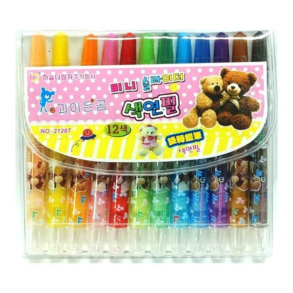 【九元生活百貨】12色旋轉蠟筆 彩虹筆 蠟筆