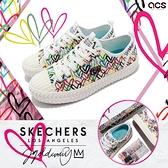 Skechers 休閒鞋 Street Trax United Heart 女鞋 白 愛心 聯名款 帆布鞋 【ACS】 155509-WMLT