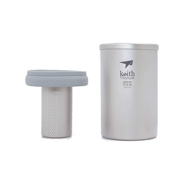 Keith純鈦 Ti3521泡茶杯(450ml)