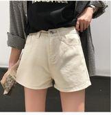 牛仔短褲  寬鬆顯瘦高腰牛仔短褲女百搭時尚直筒熱褲學生潮 米菲良品