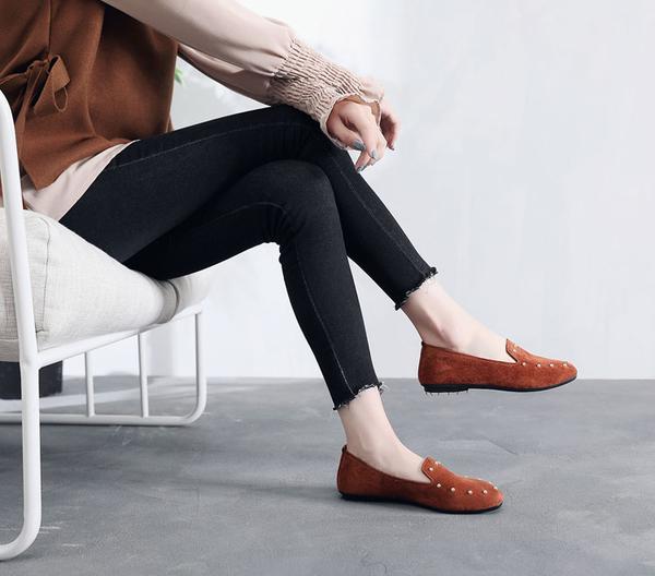 豆豆鞋 新款老北京布鞋女鞋平底軟底豆豆鞋單鞋時尚舒適孕婦鞋黑色工作鞋 玫瑰