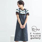❖ Spring ❖ 牛仔拉鍊設計連身吊帶裙 - E hyphen world gallery