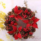 圣誕花環45CM/50CM/60CM精美裝飾圣誕花環圣誕樹裝飾用品
