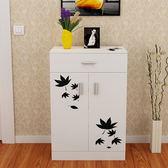 鞋櫃五格簡約現代經濟對開門印花大容量加厚免烤漆玄關多功能組裝xw