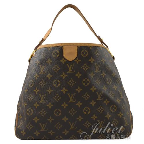 茱麗葉精品 二手精品【8成新】Louis Vuitton M40352 Delightful PM 經典花紋肩背包