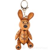 MCM VISETOS 經典圖騰兔子造型吊飾/鑰匙圈(棕色) 1730239-B3