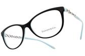 Tiffany&CO.光學眼鏡 TF2120B 8055 (黑-蒂芬妮綠) 奢華鎖鍊晶鑽款 # 金橘眼鏡