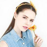 蝴蝶結布藝髮箍發夾頭箍簡約百搭防滑髪卡