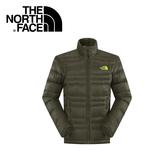 【The North Face 男 800 fill 羽絨外套《黑墨綠》】CKZ2/保暖/戶外/登山/賞雪