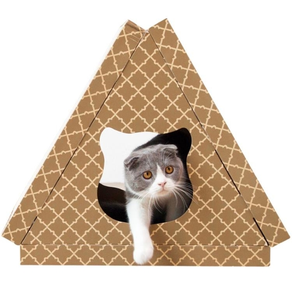 【新品上市】三角貓屋貓抓板磨爪器瓦楞紙貓窩耐磨大號貓咪用品
