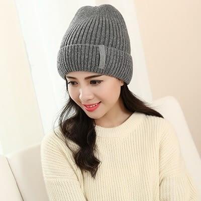 針織毛帽-時尚百搭簡約保暖女毛線帽4色73ie63【時尚巴黎】