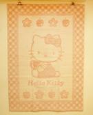 【震撼精品百貨】Hello Kitty 凱蒂貓~家具-地墊-粉格140-195【共1款】
