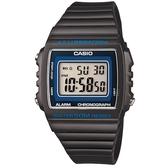 【CASIO】亮眼大螢幕電子錶-深灰(W-215H-8A)