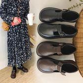 娃娃鞋-復古小皮鞋少女學生韓版百搭原宿軟妹大頭娃娃單鞋 花間公主
