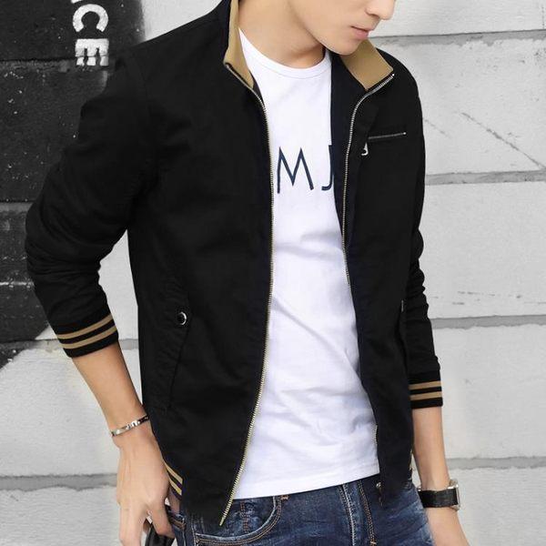 男士外套男春秋款夾克男裝春季流行2019新款韓版修身衣服薄款潮流『艾麗花園』